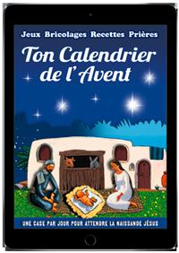 Ton calendrier de l'Avent, une case par jour pour attendre la naissance de Jésus