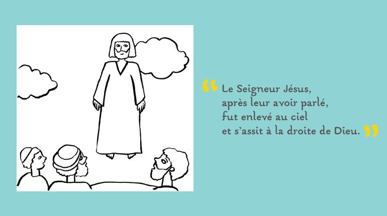Coloriage : l'ascension de Jésus