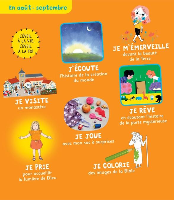 Sommaire du magazine Pomme d'Api Soleil n°140, août-septembre