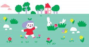 jeu de Pâques, Conception : Catherine Marie Vernier. Illustration : Marion Cocklico, pomme d'api soleil n°144, mars-avril 2020