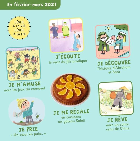 Sommaire de Pomme d'Api Soleil n°149, février-mars 2021