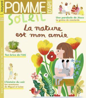 Couverture de Pomme d'Api Soleil n°152, août-septembre - La nature est mon amie