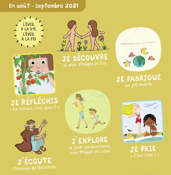 Sommaire de Pomme d'Api Soleil n°152, août-septembre - La nature est mon amie